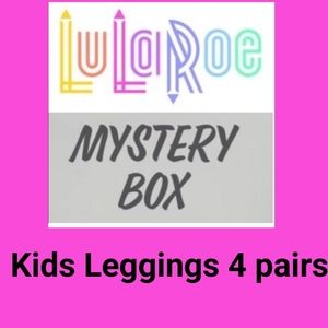 LuLaRoe kids leggings mystery box 4 PC's $20 new